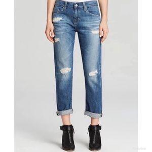 {AG Adriano Goldschmied}ExBoyfriend Crop Jeans 25R